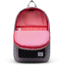 Herschel Settlement Mid-Volume Backpack polka dot crosshatch grey/black